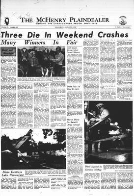McHenry Plaindealer (McHenry, IL), 9 Aug 1972