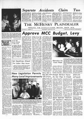 McHenry Plaindealer (McHenry, IL), 30 Aug 1972
