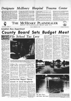 McHenry Plaindealer (McHenry, IL), 15 Sep 1972