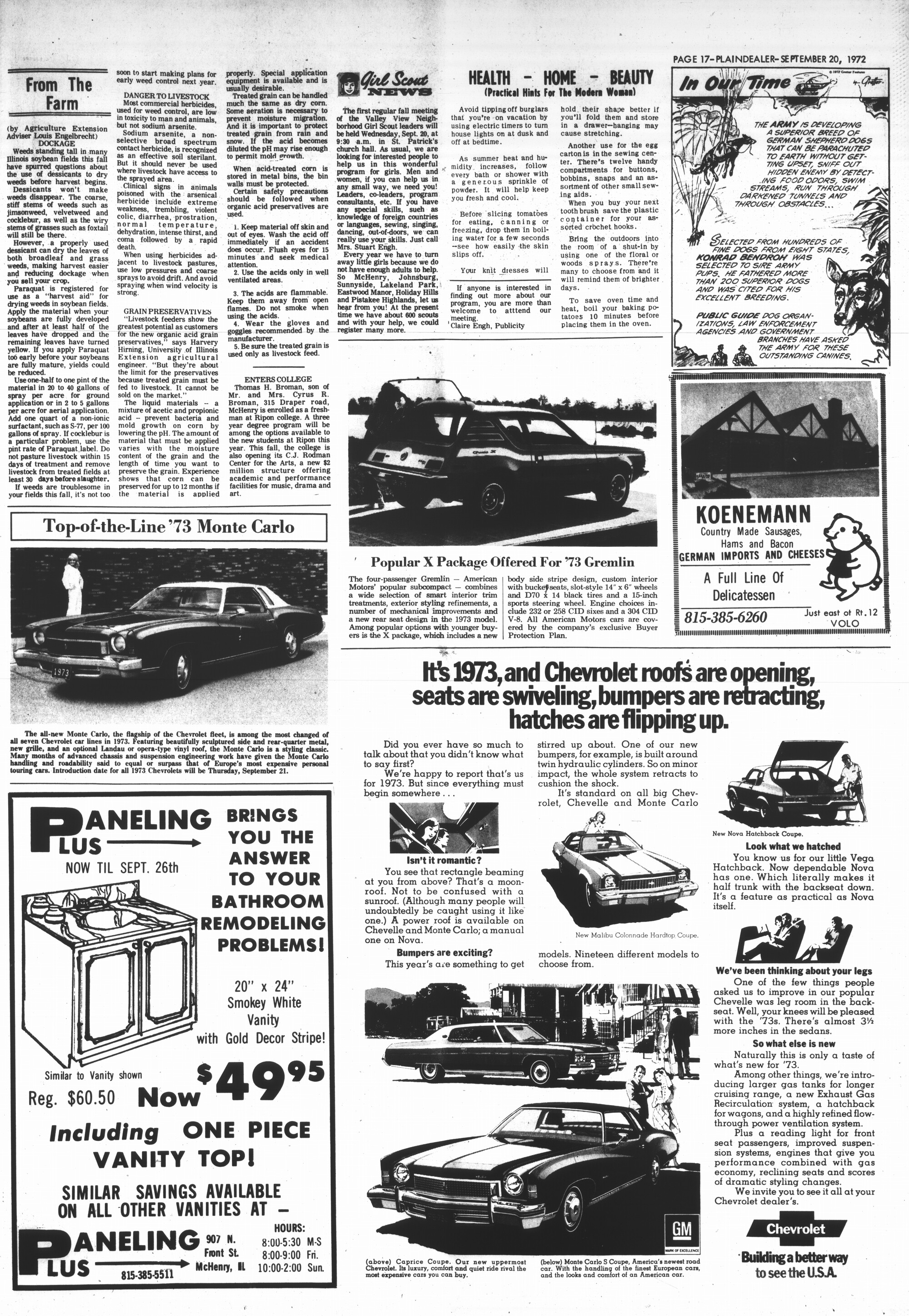 McHenry Plaindealer (McHenry, IL), 20 Sep 1972