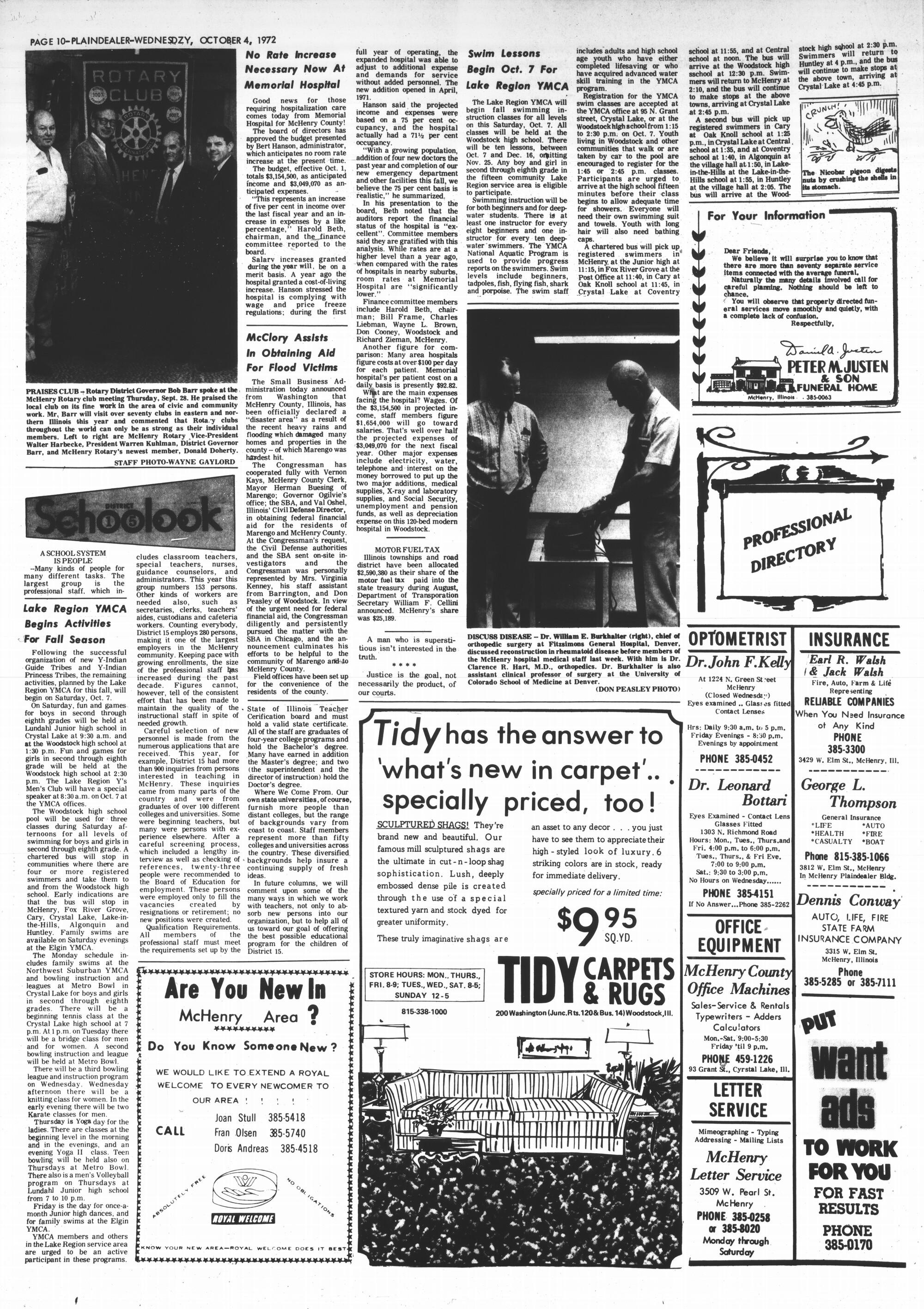 McHenry Plaindealer (McHenry, IL), 4 Oct 1972
