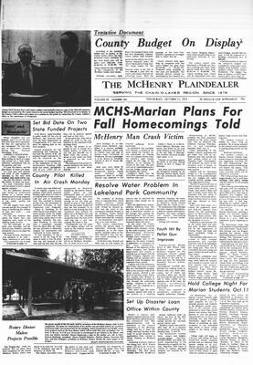 McHenry Plaindealer (McHenry, IL), 11 Oct 1972