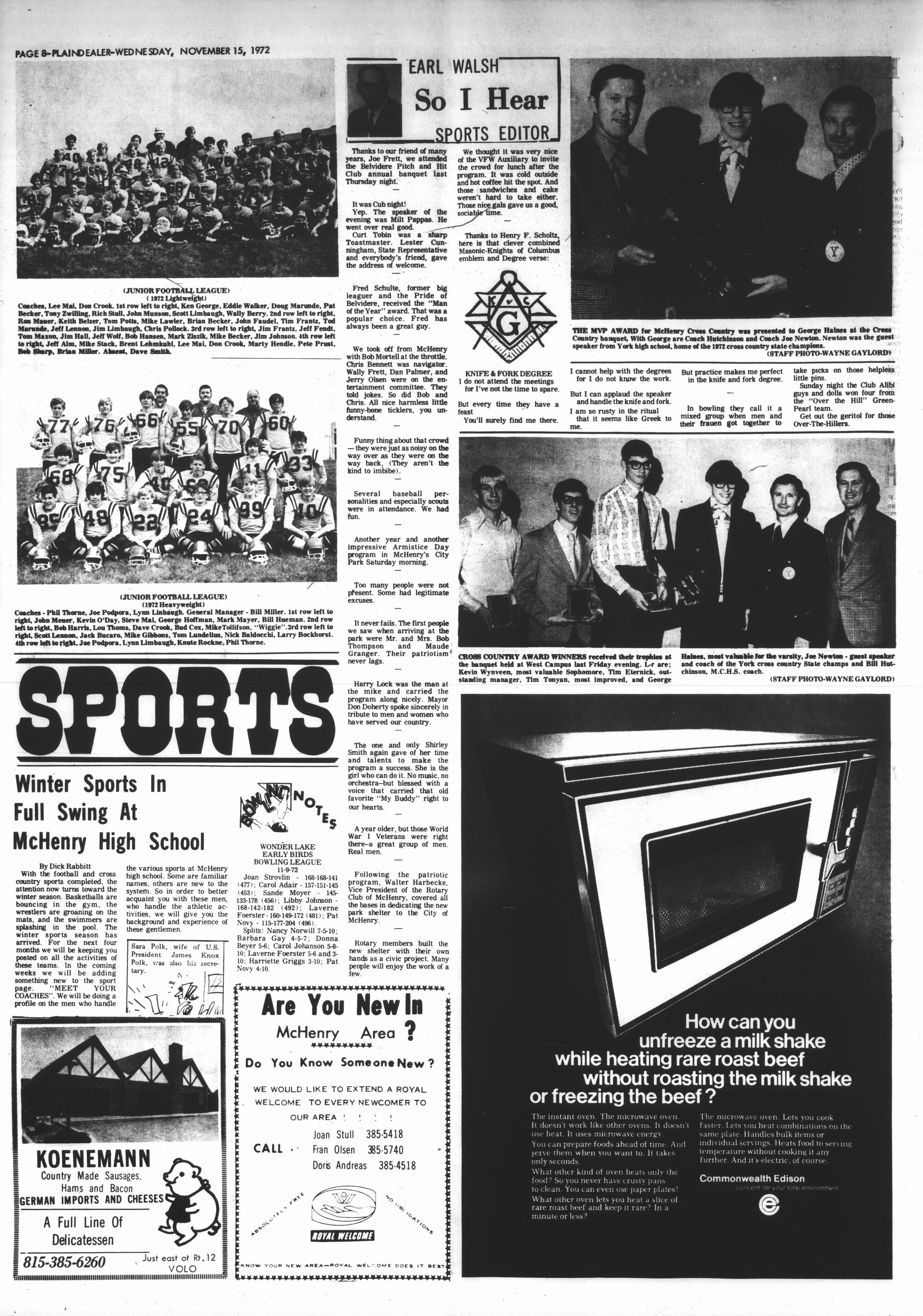 McHenry Plaindealer (McHenry, IL), 15 Nov 1972