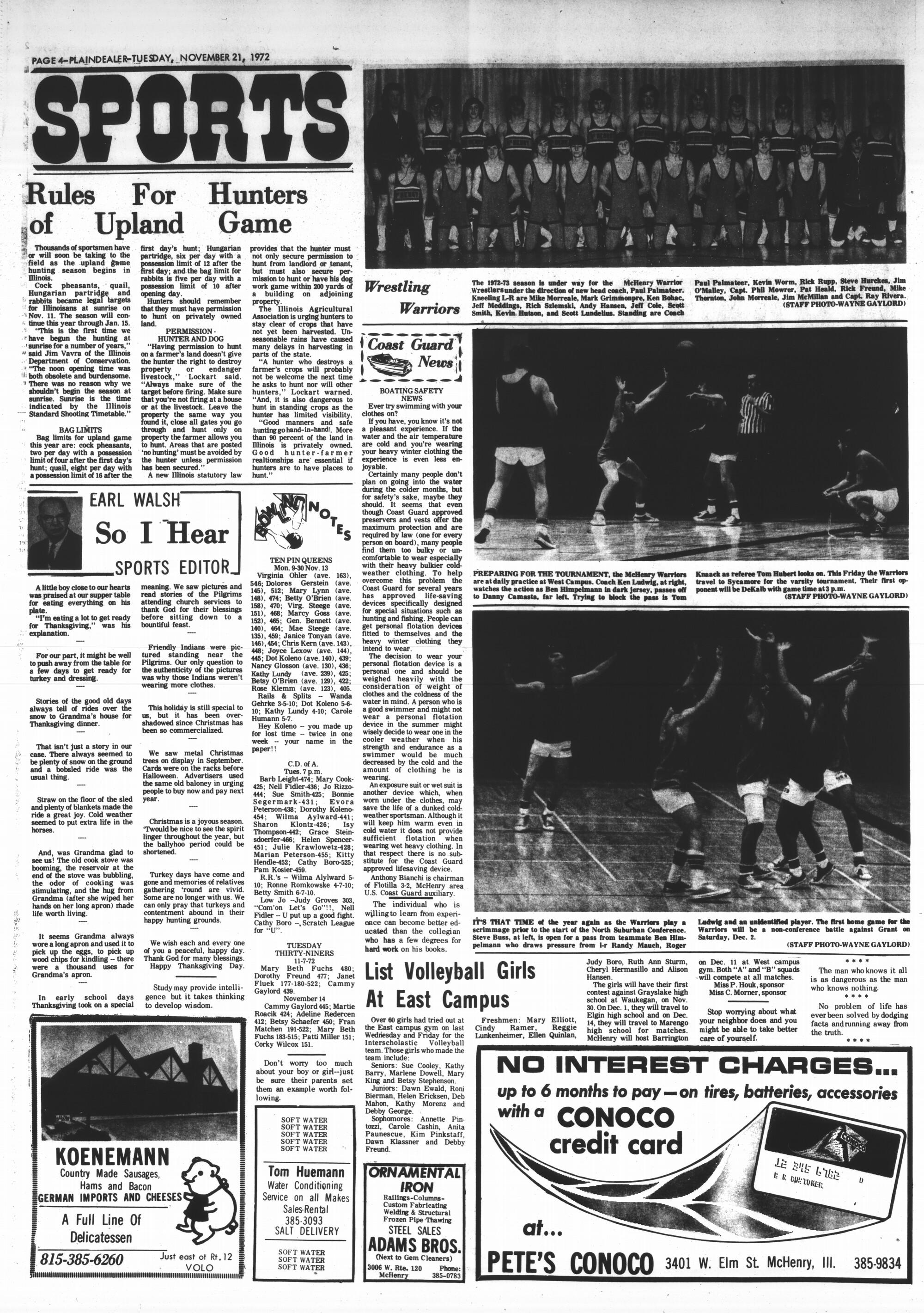 McHenry Plaindealer (McHenry, IL), 21 Nov 1972