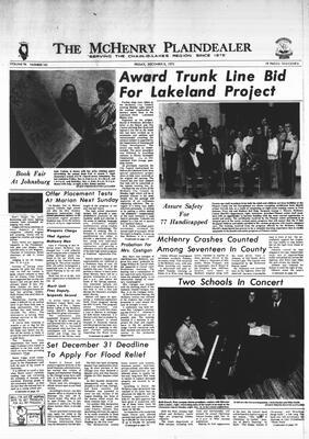 McHenry Plaindealer (McHenry, IL), 8 Dec 1972