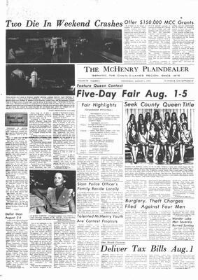 McHenry Plaindealer (McHenry, IL), 1 Aug 1973