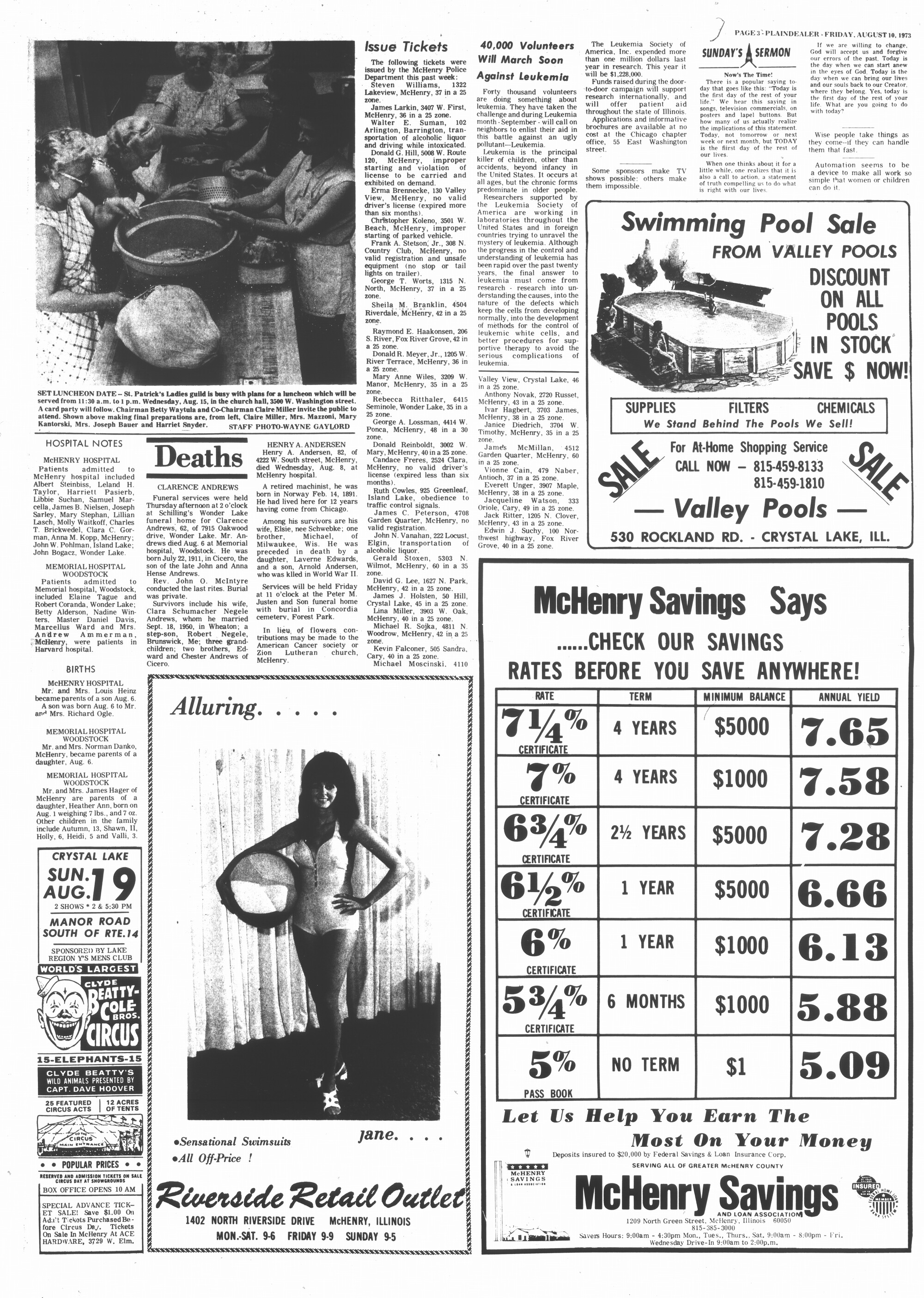 McHenry Plaindealer (McHenry, IL), 10 Aug 1973