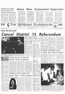 McHenry Plaindealer (McHenry, IL), 17 Aug 1973