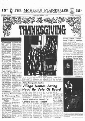 McHenry Plaindealer (McHenry, IL), 21 Nov 1973
