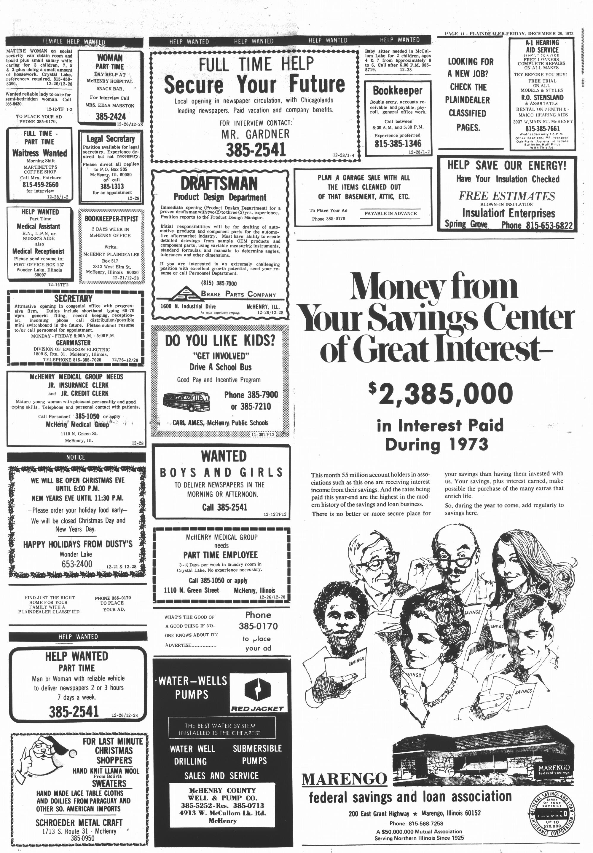 McHenry Plaindealer (McHenry, IL), 28 Dec 1973