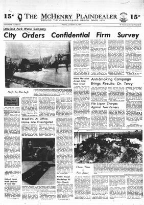 McHenry Plaindealer (McHenry, IL), 25 Jan 1974