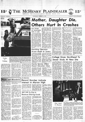 McHenry Plaindealer (McHenry, IL), 6 Feb 1974
