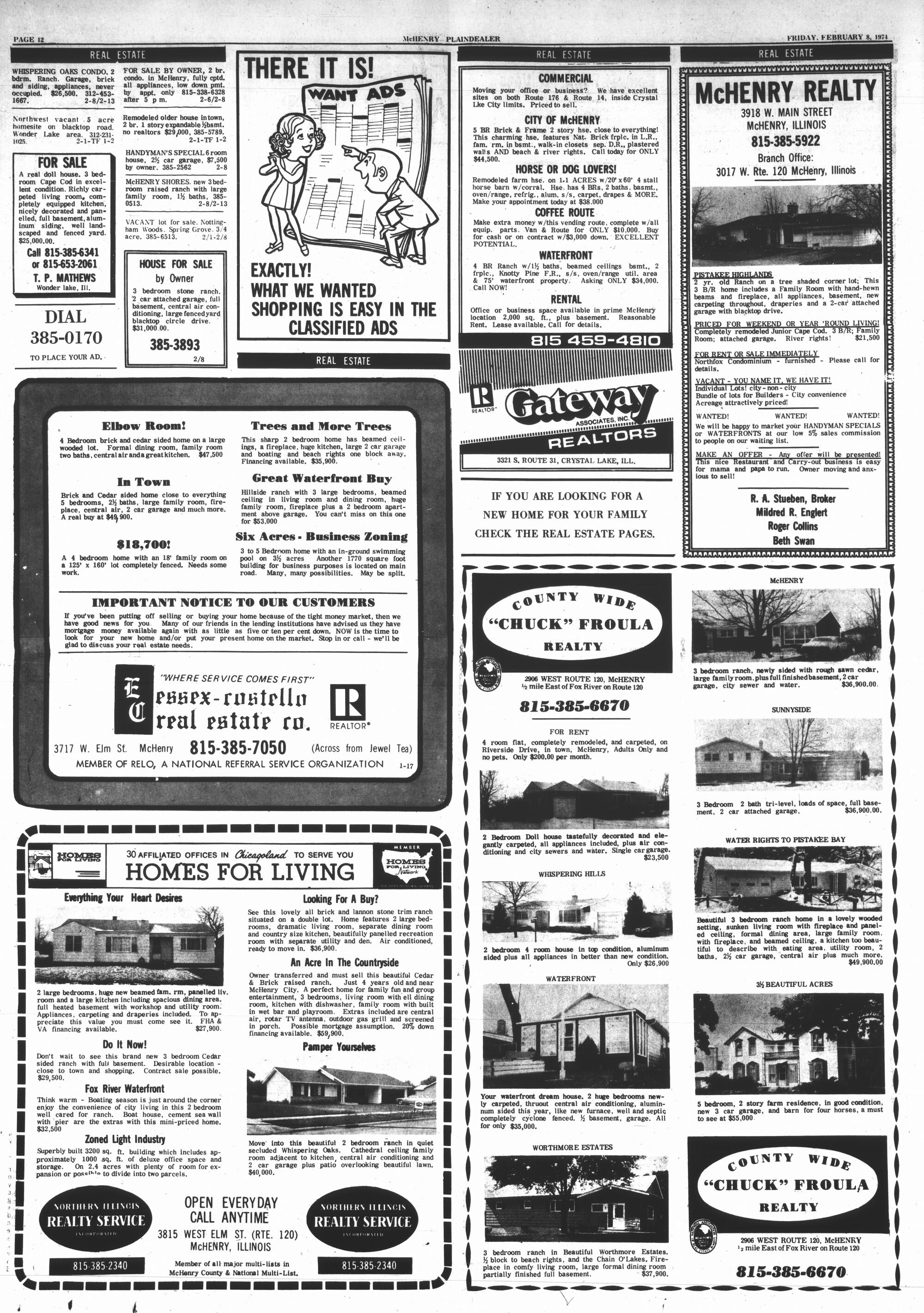 McHenry Plaindealer (McHenry, IL), 8 Feb 1974