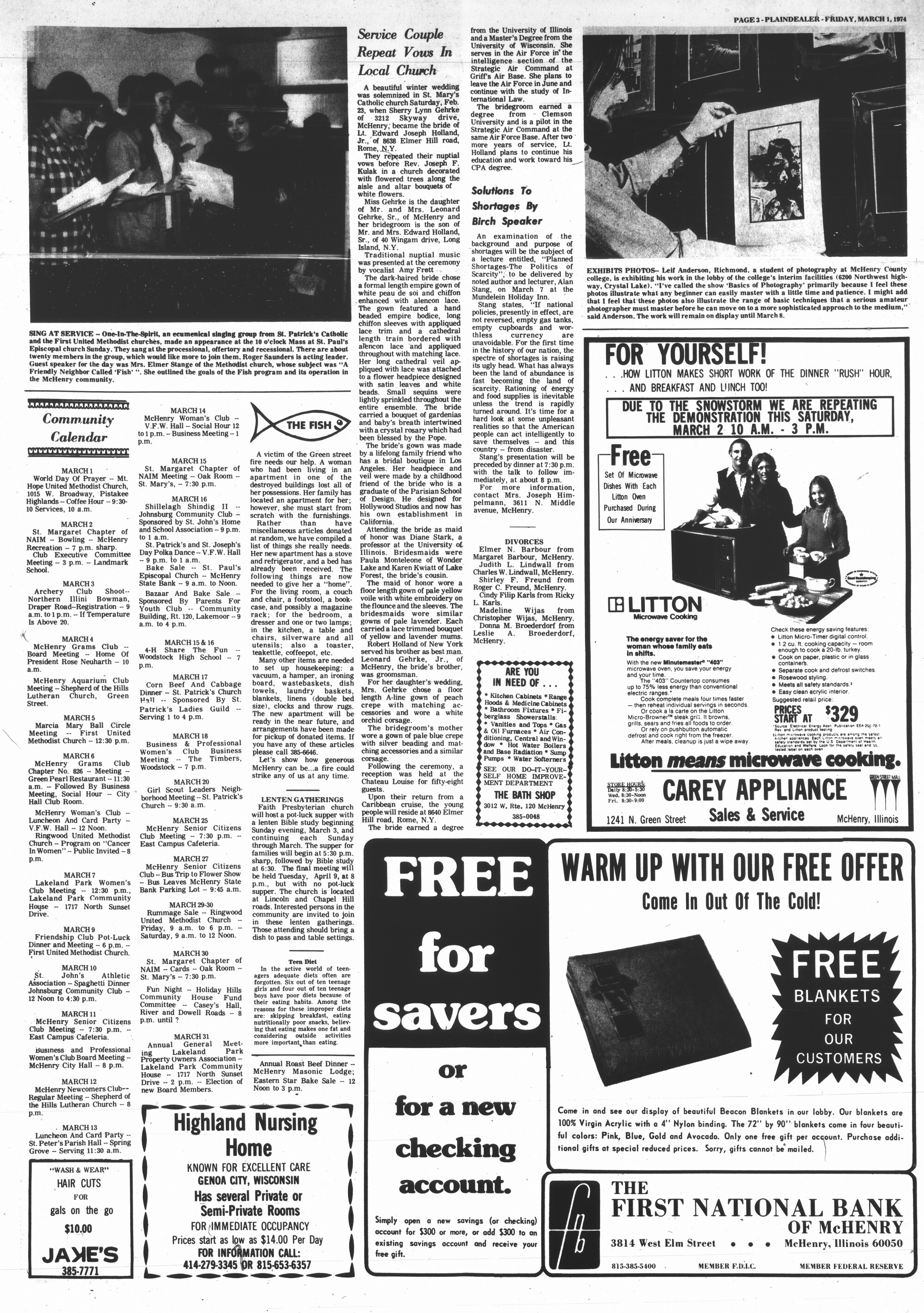 McHenry Plaindealer (McHenry, IL), 1 Mar 1974