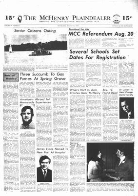 McHenry Plaindealer (McHenry, IL), 14 Aug 1974