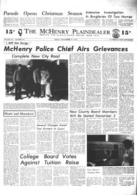 McHenry Plaindealer (McHenry, IL), 29 Nov 1974