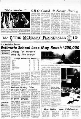 McHenry Plaindealer (McHenry, IL), 12 Mar 1975