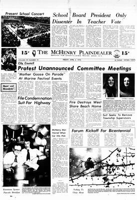 McHenry Plaindealer (McHenry, IL), 4 Apr 1975