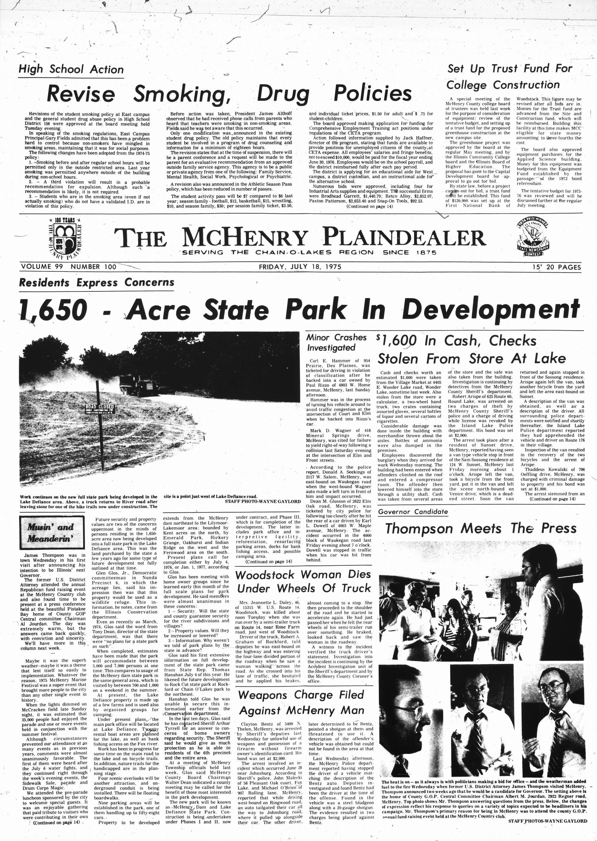 McHenry Plaindealer (McHenry, IL), 18 Jul 1975