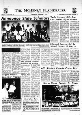 McHenry Plaindealer (McHenry, IL), 3 Dec 1975