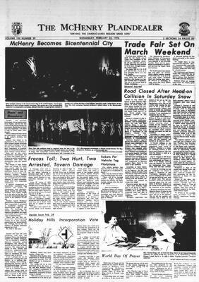 McHenry Plaindealer (McHenry, IL), 25 Feb 1976