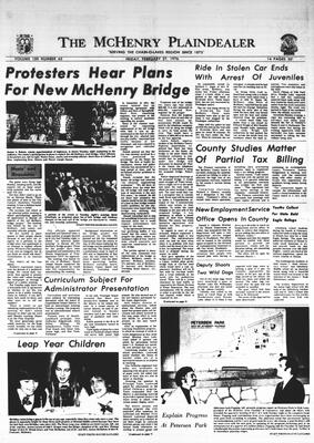 McHenry Plaindealer (McHenry, IL), 27 Feb 1976