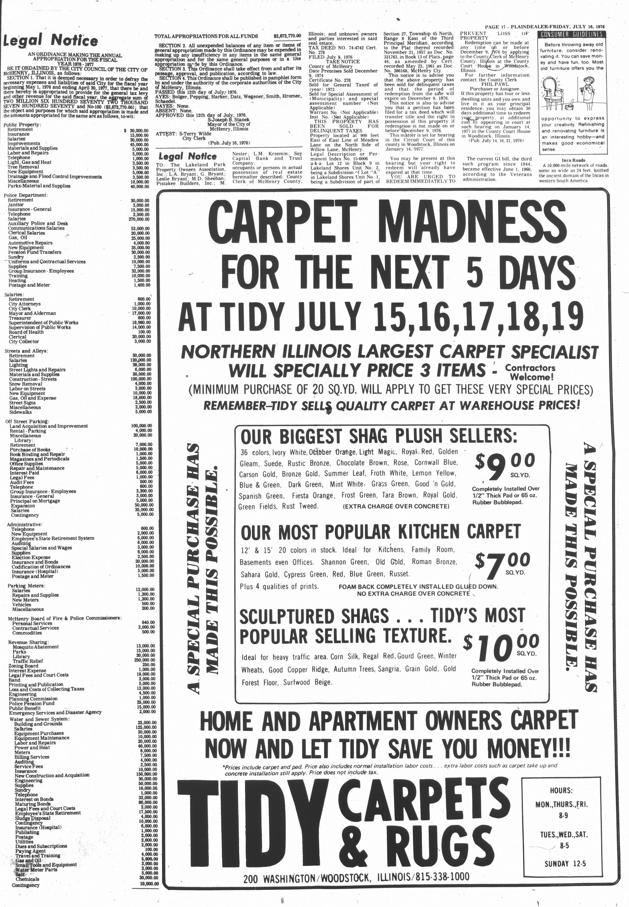McHenry Plaindealer (McHenry, IL), 16 Jul 1976