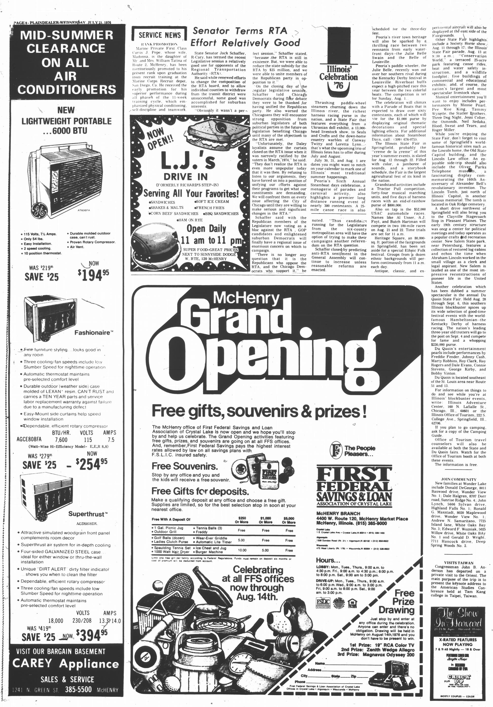 McHenry Plaindealer (McHenry, IL), 21 Jul 1976