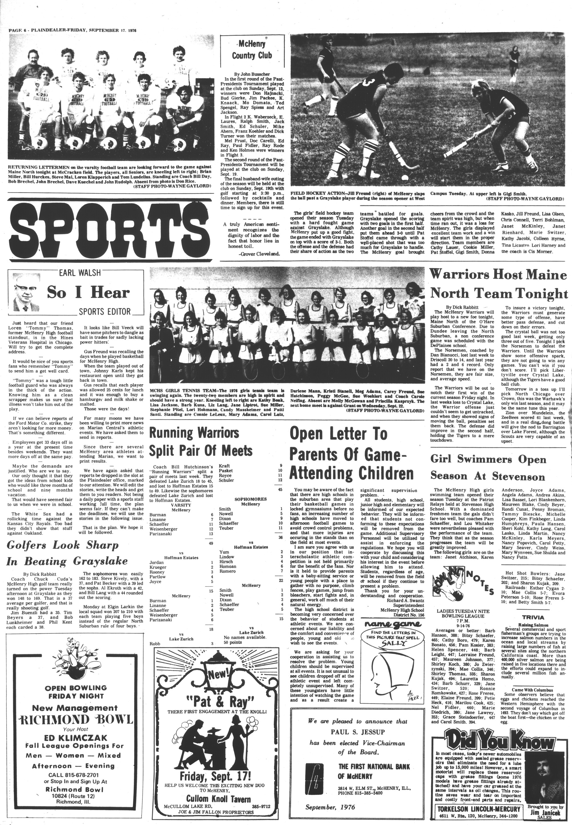McHenry Plaindealer (McHenry, IL), 17 Sep 1976