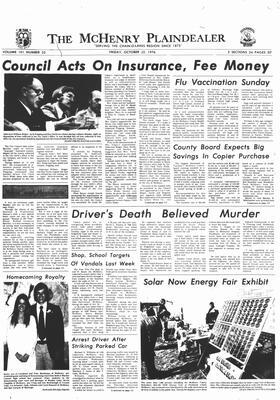 McHenry Plaindealer (McHenry, IL), 22 Oct 1976