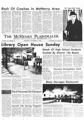 McHenry Plaindealer (McHenry, IL), 3 Nov 1976