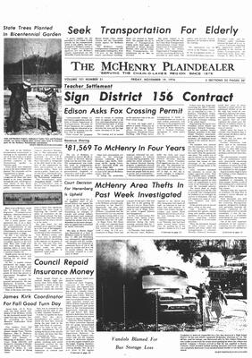 McHenry Plaindealer (McHenry, IL), 19 Nov 1976