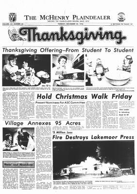 McHenry Plaindealer (McHenry, IL), 23 Nov 1976