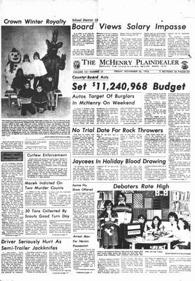 McHenry Plaindealer (McHenry, IL), 26 Nov 1976