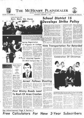 McHenry Plaindealer (McHenry, IL), 1 Dec 1976