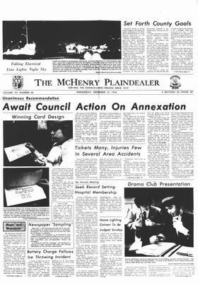 McHenry Plaindealer (McHenry, IL), 15 Dec 1976