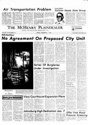 McHenry Plaindealer (McHenry, IL), 1 Dec 1978