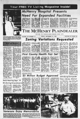 McHenry Plaindealer (McHenry, IL), 12 Sep 1980