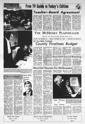 McHenry Plaindealer (McHenry, IL), 24 Oct 1980