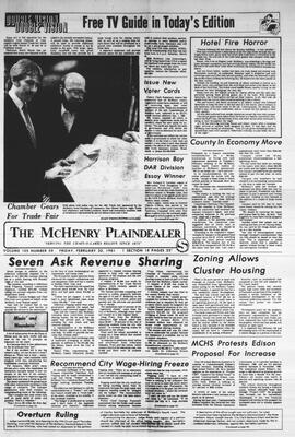 McHenry Plaindealer (McHenry, IL), 20 Feb 1981