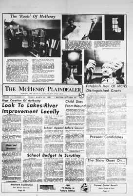 McHenry Plaindealer (McHenry, IL), 20 Mar 1981