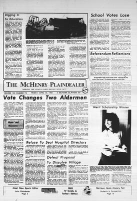 McHenry Plaindealer (McHenry, IL), 10 Apr 1981
