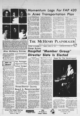 McHenry Plaindealer (McHenry, IL), 24 Apr 1981
