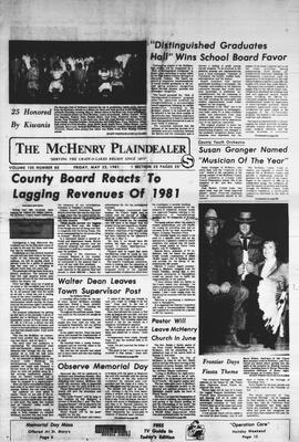 McHenry Plaindealer (McHenry, IL), 22 May 1981