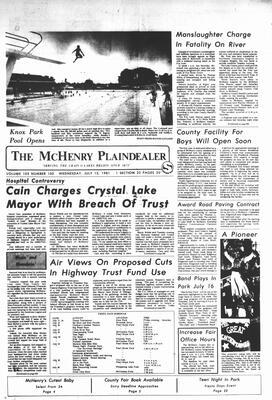 McHenry Plaindealer (McHenry, IL), 15 Jul 1981