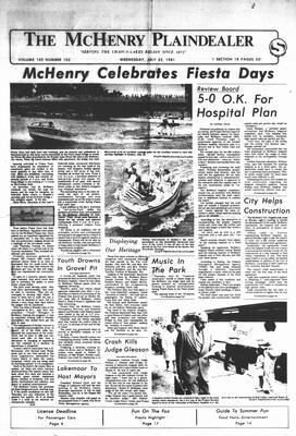 McHenry Plaindealer (McHenry, IL), 22 Jul 1981