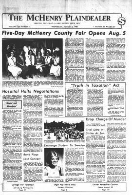 McHenry Plaindealer (McHenry, IL), 5 Aug 1981