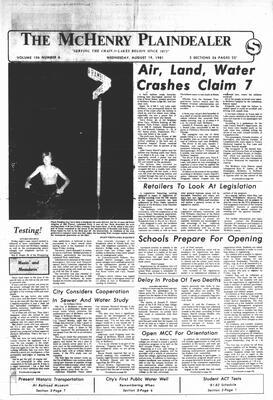 McHenry Plaindealer (McHenry, IL), 19 Aug 1981