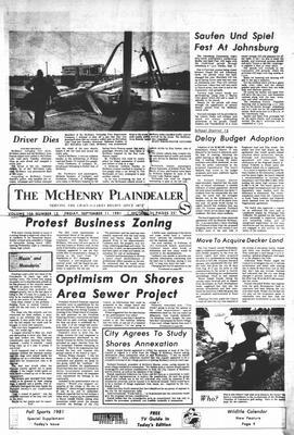 McHenry Plaindealer (McHenry, IL), 11 Sep 1981