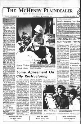 McHenry Plaindealer (McHenry, IL), 30 Sep 1981